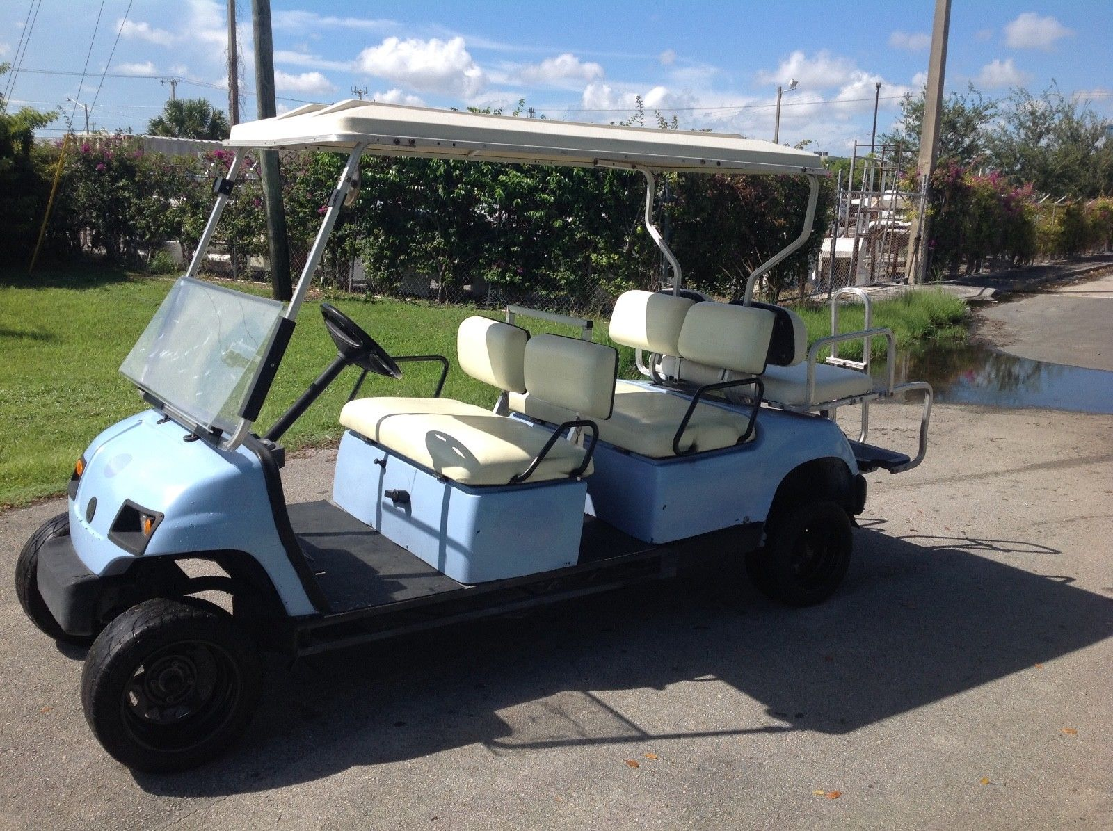 Lifted 2006 Yamaha 6 Passenger Golf Cart For Sale