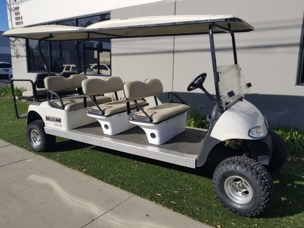 Lifted 2010 EZGO RXV 8 Passenger Seat Limo Golf Cart