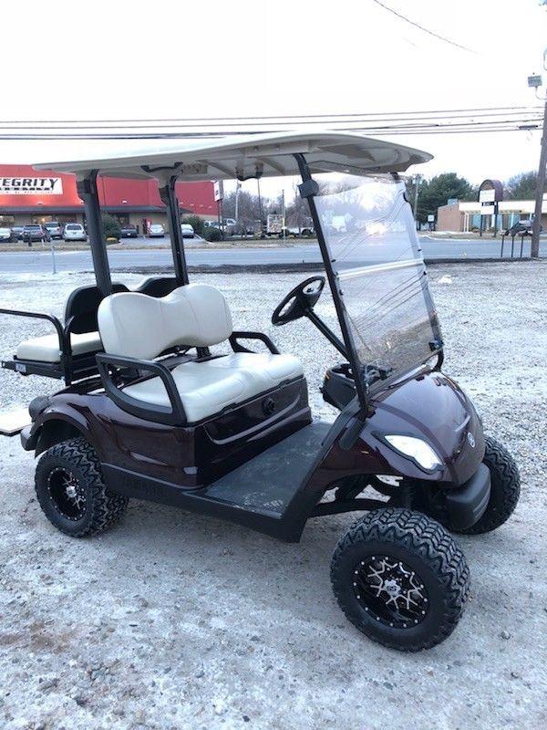 lifted 2013 Yamaha 48v Electric golf cart