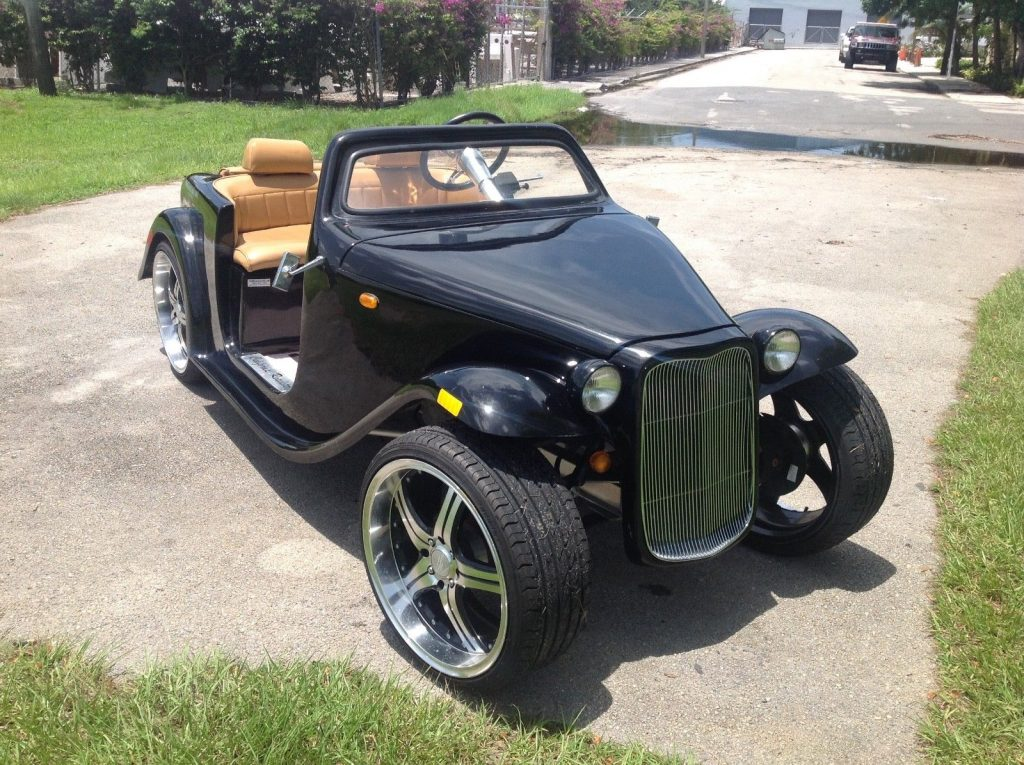 custom 2016 acg Black California Roadster Golf Cart