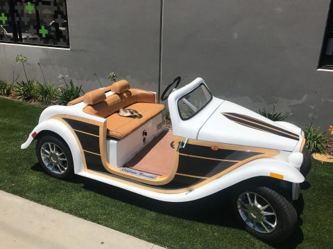 custom bodied 2016 ACG Woody California Roadster Golf Cart for sale
