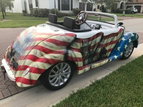 custom painted 2017 ACG 39 Roadster Golf Cart