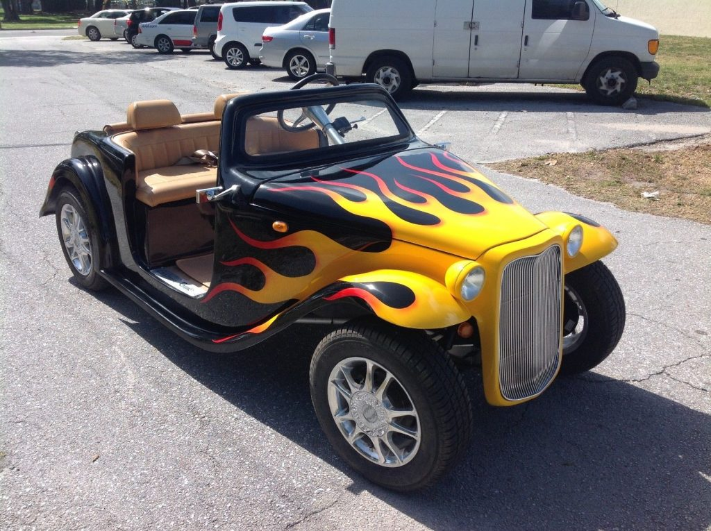 custom paint 2018 Acg California Roadster Golf Cart