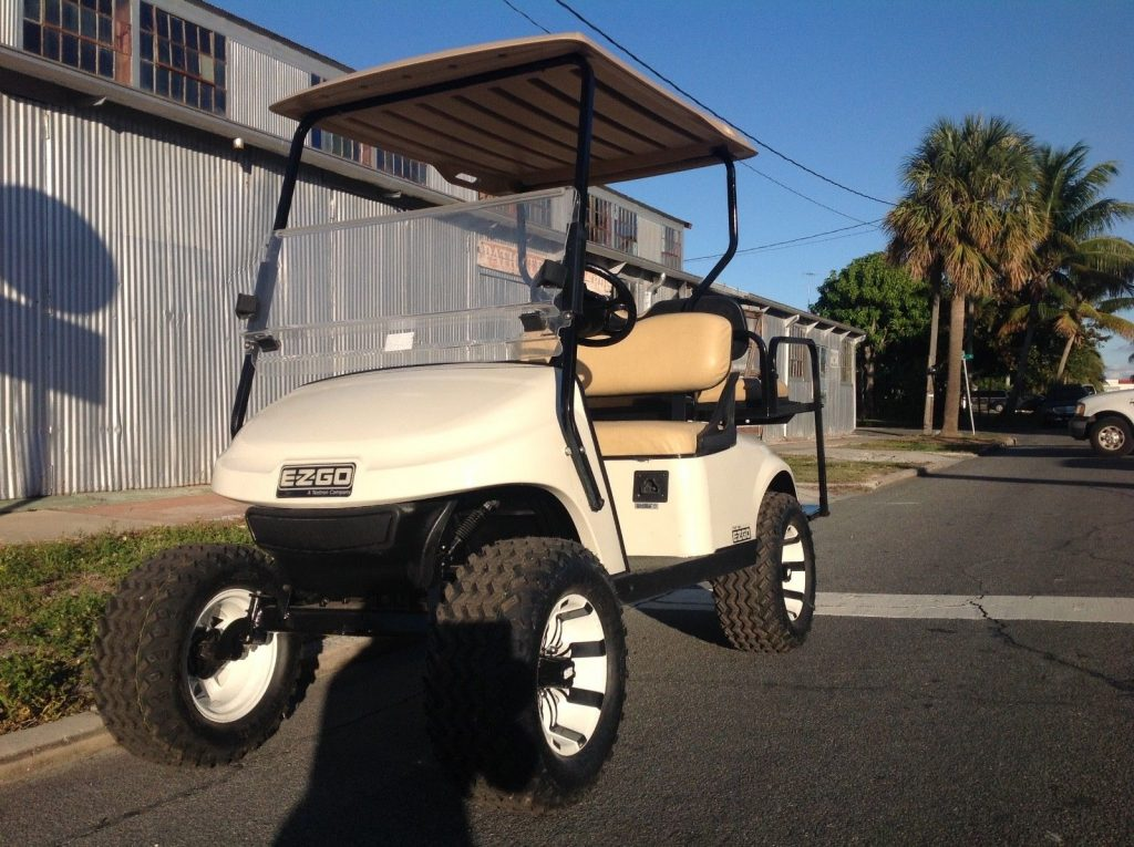 lifted 2015 EZGO golf cart
