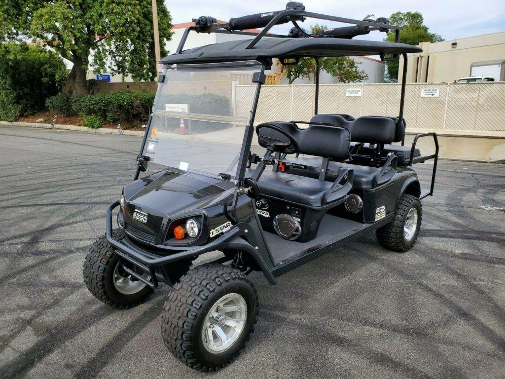 lifted 2012 EZGO Express golf cart