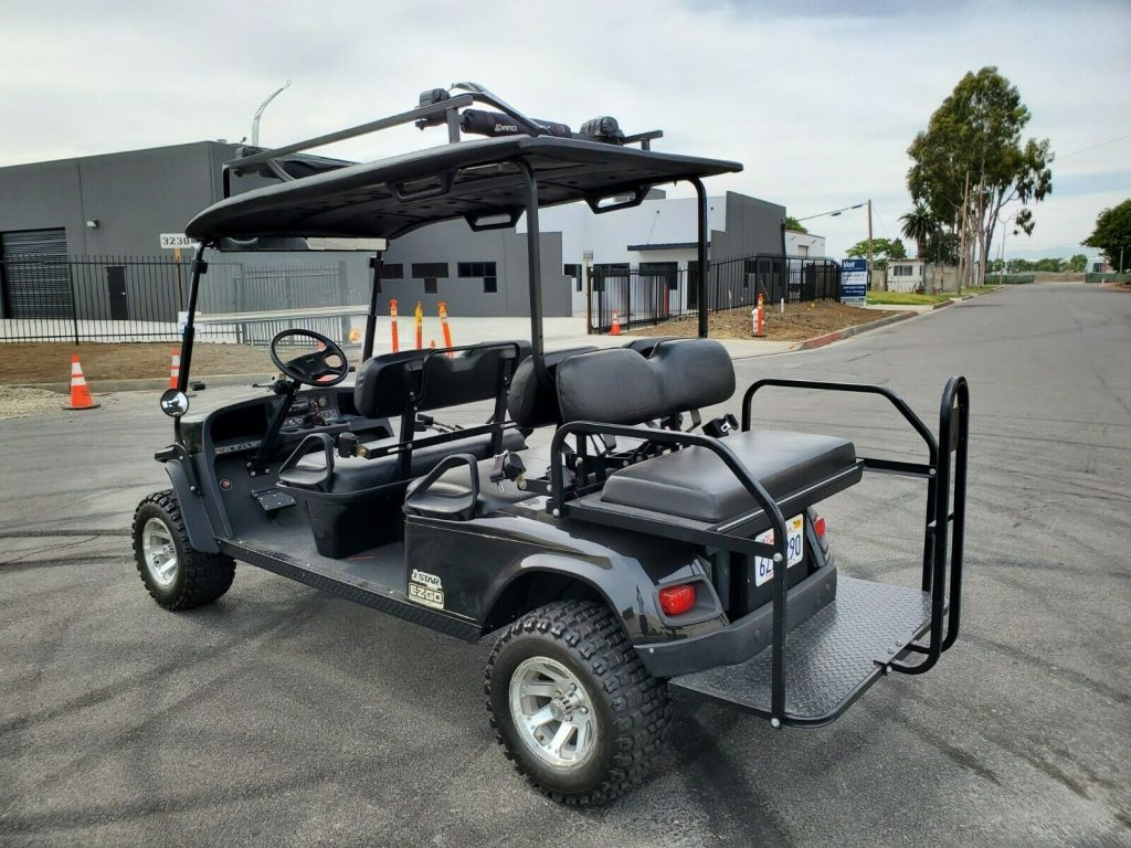 lifted 2012 EZGO Express golf cart