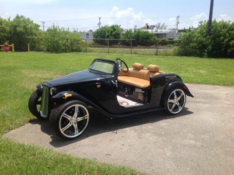custom bodied 2016 ACG Black California Roadster Golf Cart for sale
