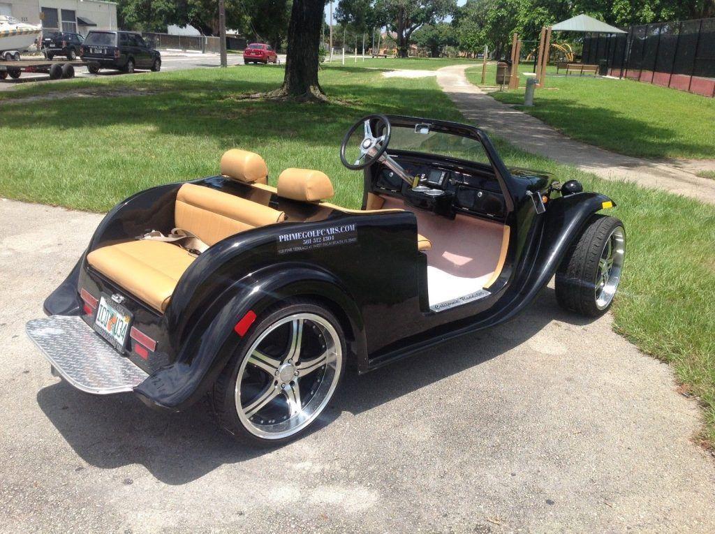 custom bodied 2016 ACG Black California Roadster Golf Cart
