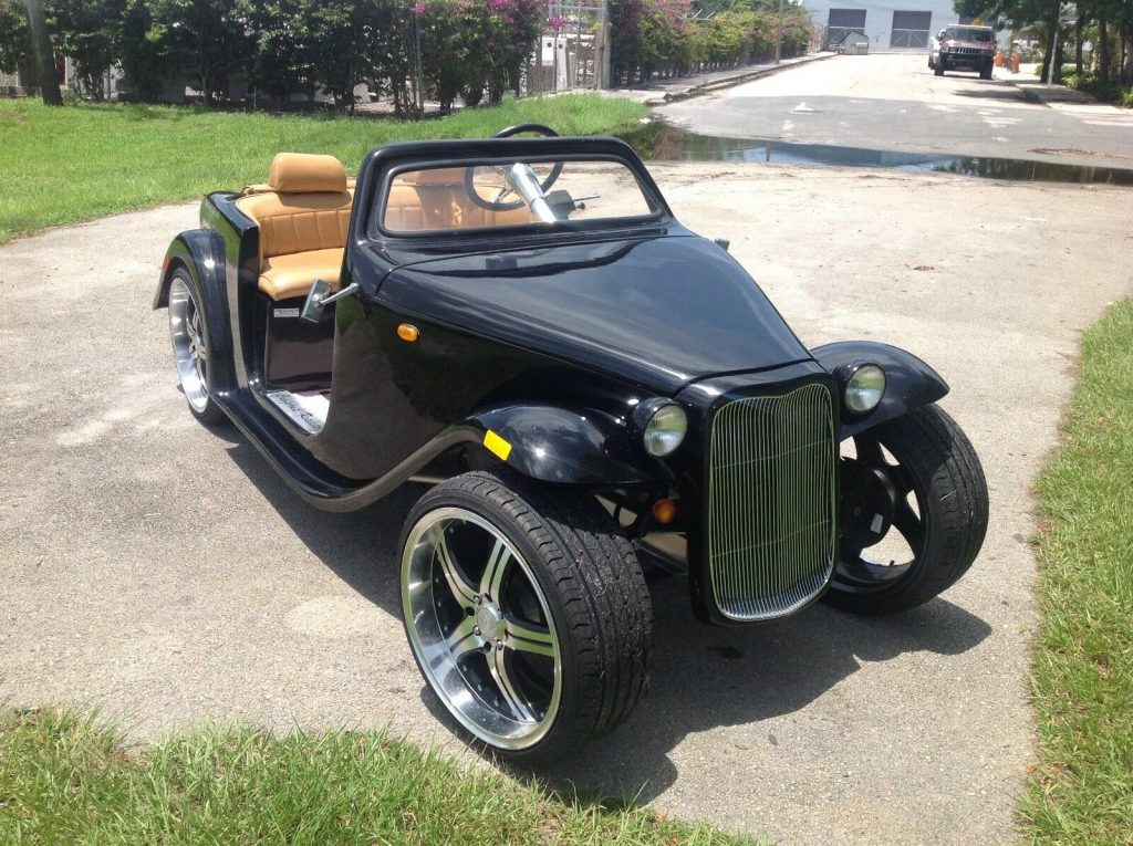 custom bodied 2016 ACG Black California Roadster Golf Cart