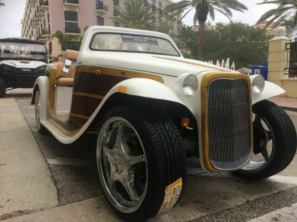 custom 2016 Acg California Roadster Woody Golf Cart